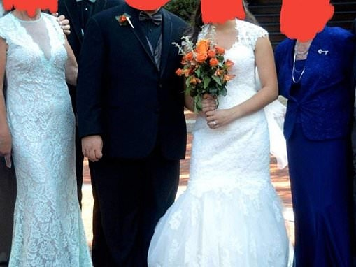 Mother of the groom is slammed online for wearing a bridal dress to her son's wedding