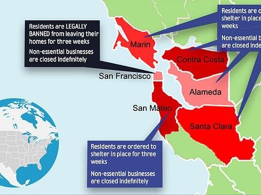 Coronavirus US: San Francisco starts three-week lockdown