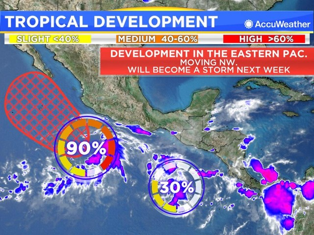Daily Tropical update: Aletta forms in the Pacific