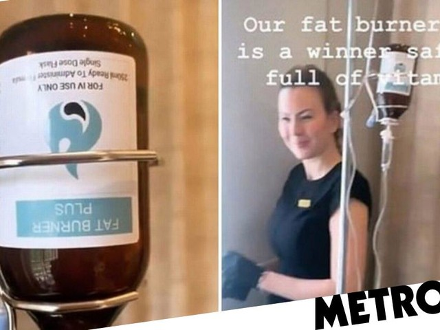 Gemma Collins tries out fat burner drip because she wants to 'look like Khloe Kardashian'