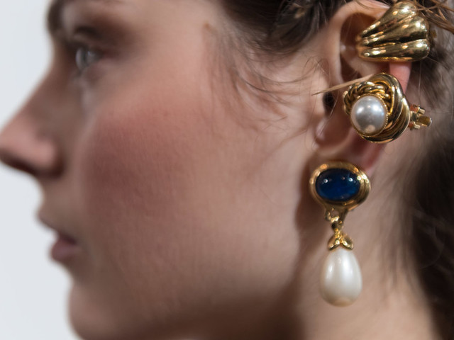 London Fashion Week Looks We Love: Layered Chunky Earrings
