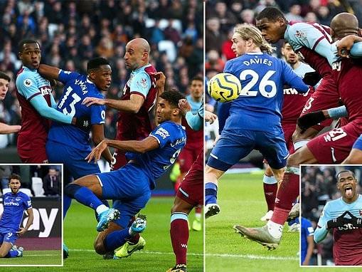 West Ham 1-1 Everton: Dominic Calvert-Lewin header cancels out Issa Diop opener