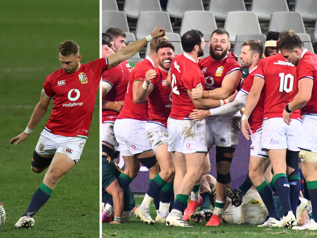 South Africa 17 Lions 22: Gatland's stars edge first Test as Biggar's boot and Cowan-Dickie's try sees Lions over line