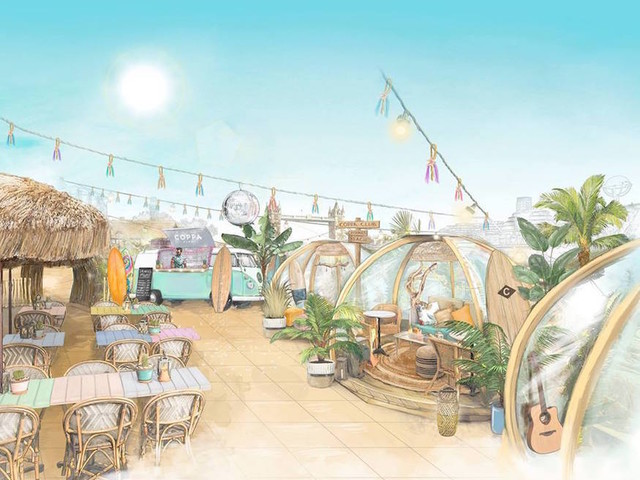 Coppa Club's Riverside Igloos Are Turning Into Surf Shacks This Summer