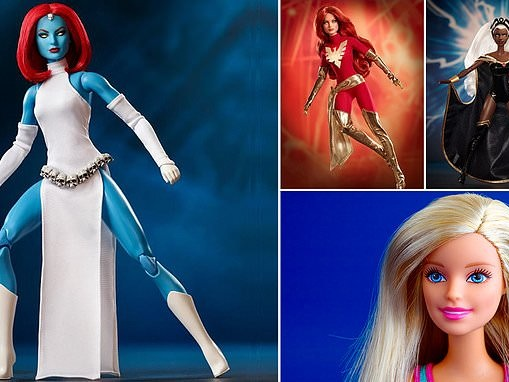 Barbie is transformed into X-Men characters in a new limited edition collaboration