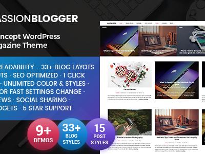Passion Blogger - A Responsive WordPress Theme (Personal)