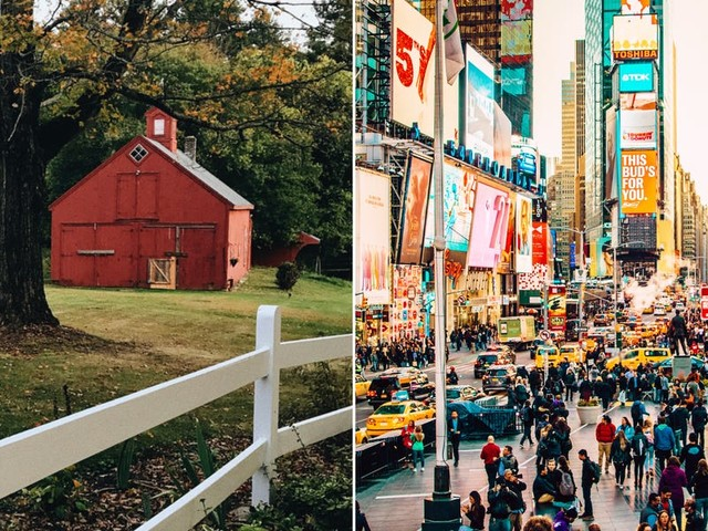 I moved from a town of 8,000 people to New York City — here are 9 things I do and don't miss about small-town life