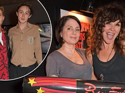 Sadie Frost and son Rafferty Law appear to flout social-distancing rules