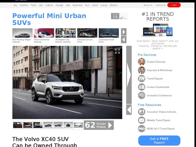 Powerful Mini Urban SUVs - The Volvo XC40 SUV Can be Owned Through the 'Care by Volvo' Program (TrendHunter.com)