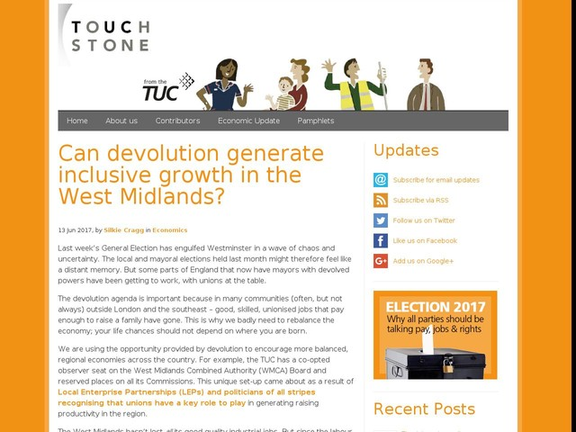 Can devolution generate inclusive growth in the West Midlands?