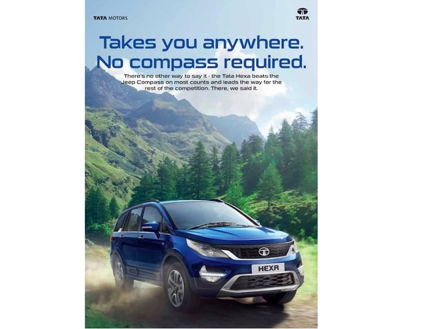 Tata Motors takes a dig at the newborn Jeep Compass