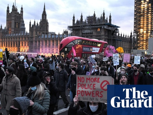 Arrests made at London protest over policing powers and vigil