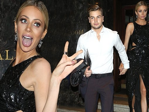 Olivia Attwood leaves Pride of Sport Awards with Chris
