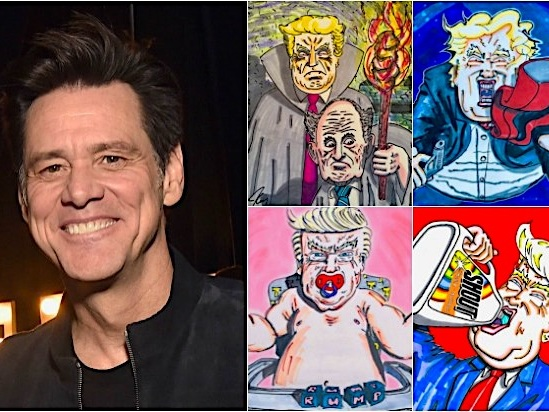 Jim Carrey's New Cartoon Warns Trump Will Try to 'Defect' to Russia Before Election