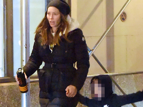 Jessica Biel Is All Smiles With Son Silas, 4, In NYC 2 Months After Husband Justin's Hand Holding Scandal
