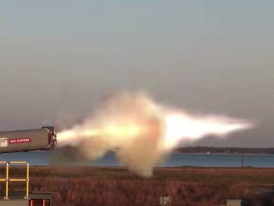 Watch the US Navy fire its game-changing hypersonic electromagnetic railgun