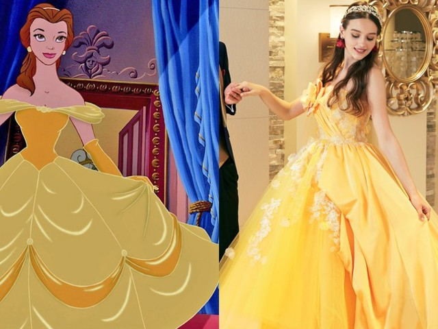 Big, beautiful photos of the wedding dresses inspired by Disney princesses that will only be available in Japan