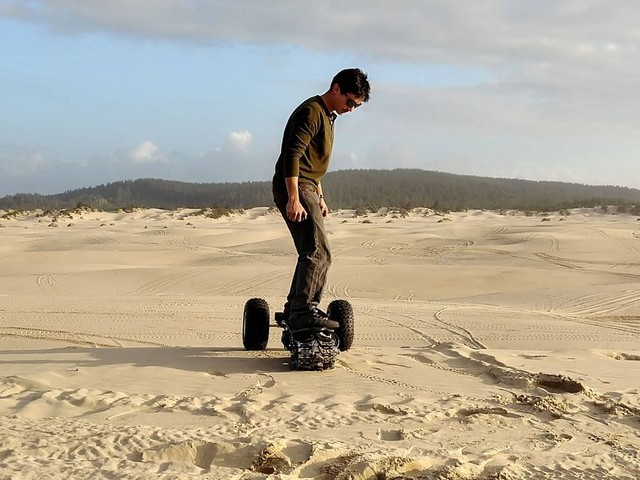 Forget wheels, this multi-terrain skateboard is built like a tank