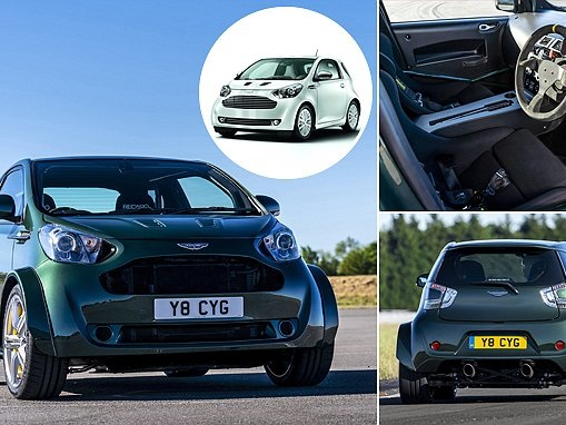 Aston Martin created the V8 Cygnet that looks like a city car on steroids
