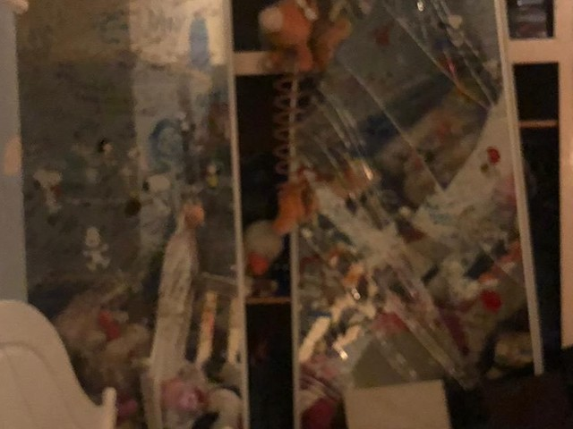 This was the state of a woman's bedroom after raiders completely trashed it
