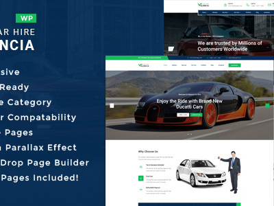 Valencia - Car Hire WordPress Theme (Business)