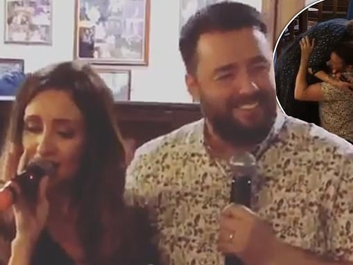 Catherine Tyldesley unveils her impressive vocals with Scarborough co-star Jason Manford