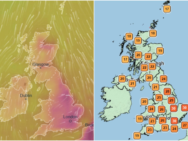 UK weather forecast – Hottest day of the year this week as African plume brings 34C heatwave for start of school holidays