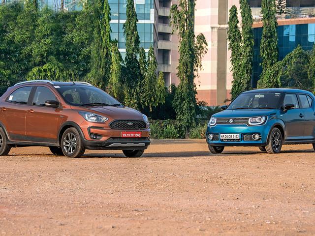 Review: 2018 Ford Freestyle vs Maruti Ignis comparison