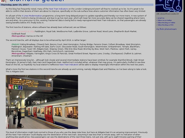 Next Train Indicator upgrade
