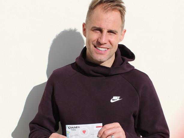 Cheltenham Town: Luke Varney Wins January Player Of The Month Award, Takes Home Voucher For Nandos Sharing Platter (Photo)