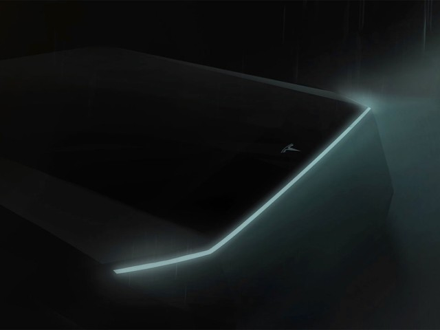 Here's the first teaser of Tesla's electric truck