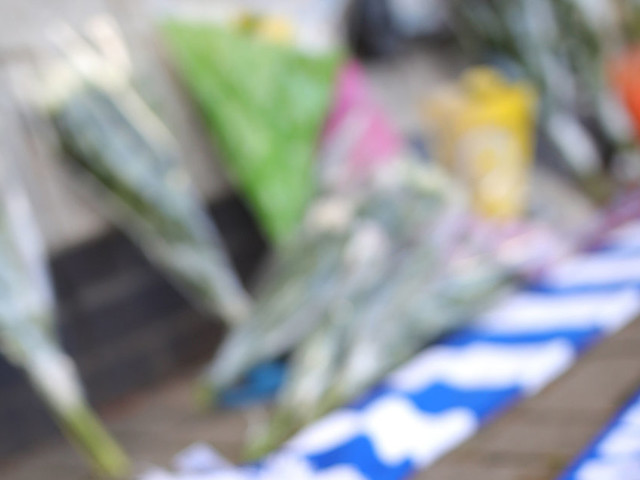 Tributes Laid At Helicopter Crash Site Near Leicester City Football Stadium