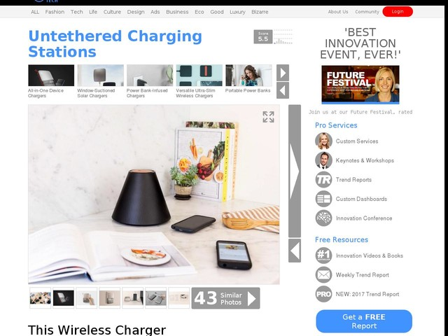 Untethered Charging Stations - This Wireless Charger Doesn't Require a Compatible Mat Or Platform (TrendHunter.com)