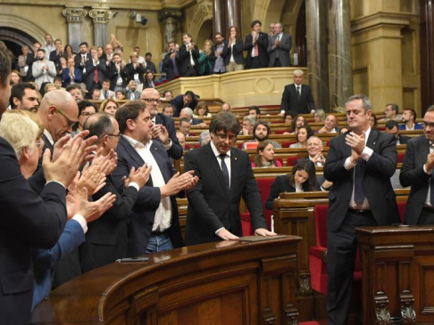 Catalan parliament declares independence from Spain (Updated)