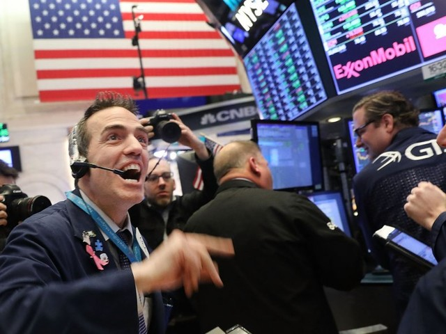 The Dow cracks 25,000 for the first time since May