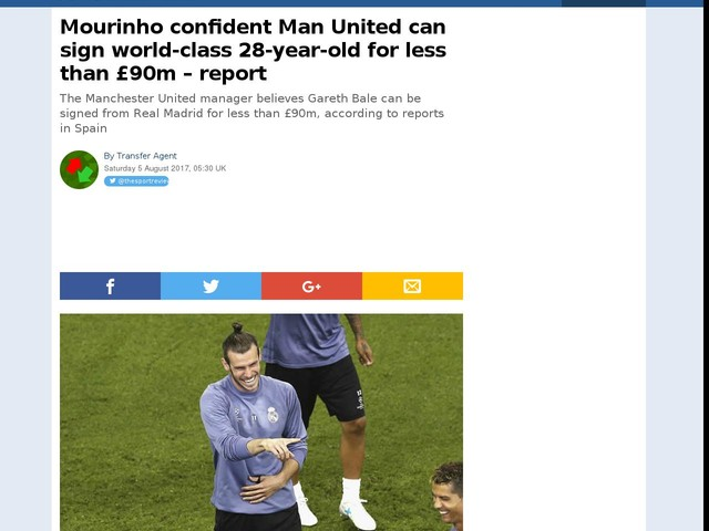 Mourinho confident Man United can sign world-class 28-year-old for less than £90m – report