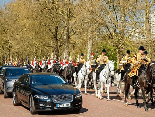 Heir to throne takes I-Pace from Buckingham Palace to St James's Palace for meeting with PM