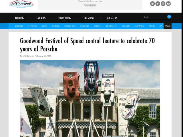 Goodwood Festival of Speed central feature to celebrate 70 years of Porsche