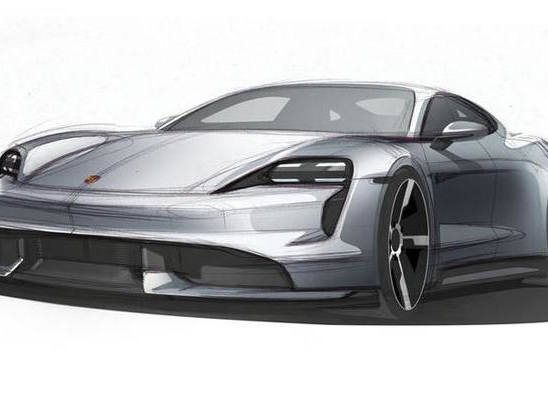 Porsche Taycan Sketch Teases Production Model, Launch Date Confirmed