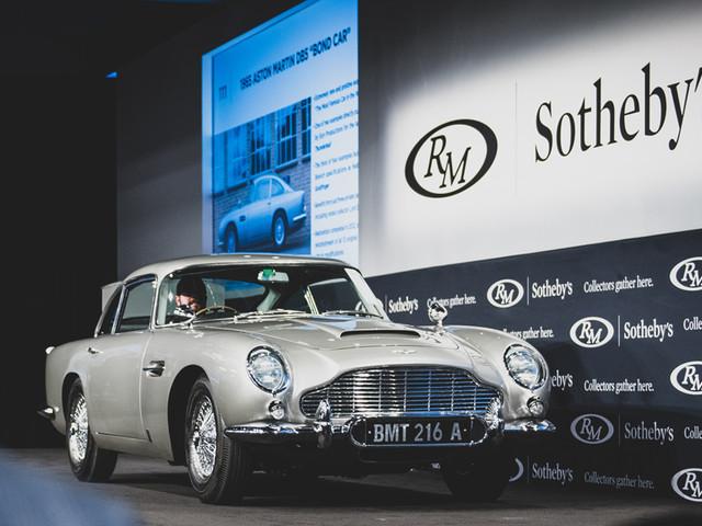James Bond Aston Martin DB5 sold for a record USD 6.4 million