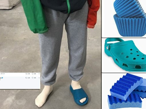 Kanye West mercilessly trolled after releasing snap of his 'weird' sliders