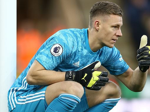 Arsenal goalkeeper Bernd Leno admits they were fortunate to get a point at Norwich