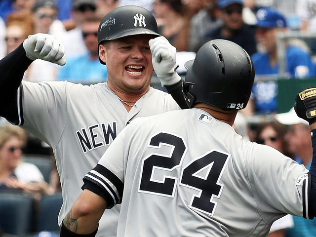 Voit's Monster Homer Leads Yankees To Victory In Doubleheader Opener