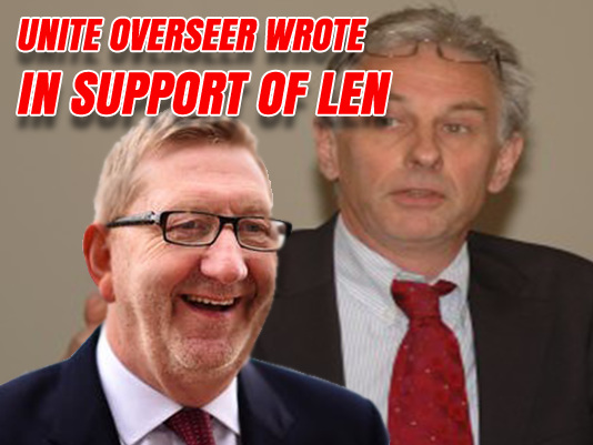 "Unite Election's ""Independent"" Overseer Supports Len McCluskey"