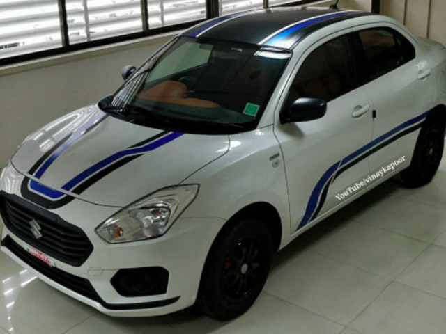 India's first 'wrapped' 2017 Maruti Dzire – In Images