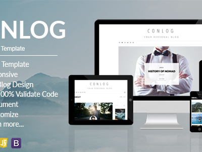 Conlog - Personal Blog HTML5 Template (Personal) - Other - Anygator.com