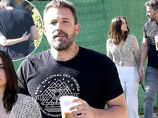 Ben Affleck and Ana de Armas put on a loved up display as they take a walk during self-isolation