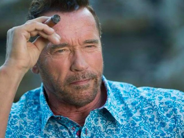 Arnold Schwarzenegger's new movie has him facing the one thing he fears most: singing