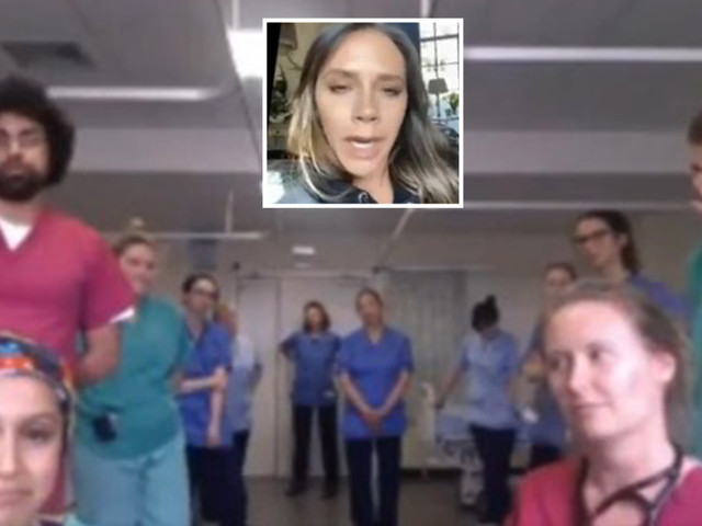 Victoria Beckham says she feels humbled as she FaceTimes NHS team on hospital ward