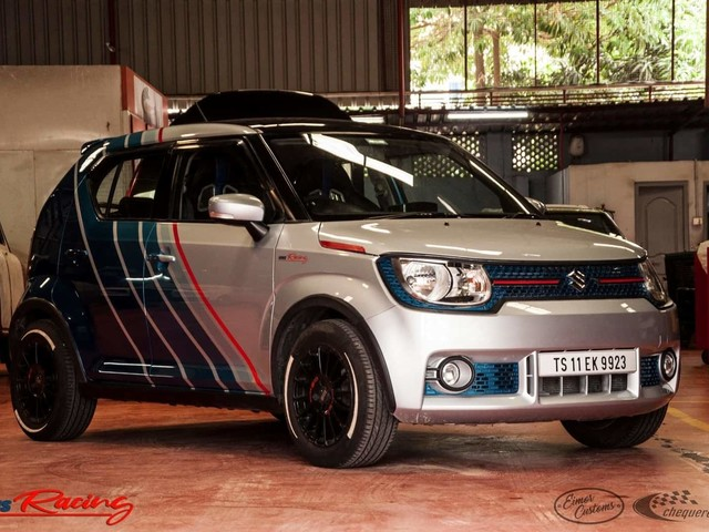 This Modified Maruti Ignis Gets A Lovely Race-Inspired Paint Job
